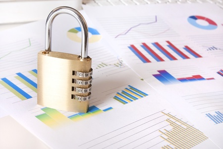 analogy: idea representing secure financial and private business information