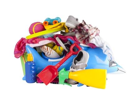 futbol infantil: Todo lo que necesita hacer las maletas para vacaciones de verano o vacaciones Foto de archivo