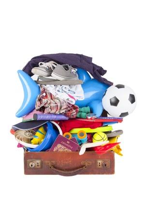 futbol infantil: Una maleta bolsas tan aburrido que no se puede cerrar o salir