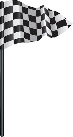 golf flag with a checkered, chequered flag on to represent finishing line. Stock Vector - 9843690