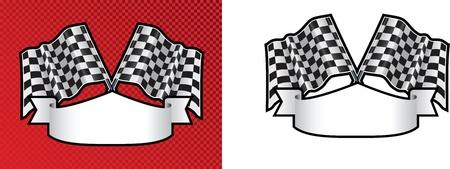 motor racing: cruz a cuadros acabado opciones de la l�nea de carreras en el fondo con el espacio de desplazamiento para el mensaje