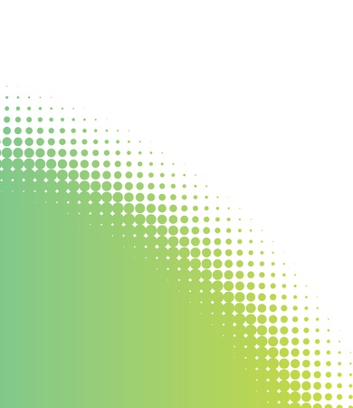 green sunrise circle design with halftone fading dot circles Stock Vector - 9991722