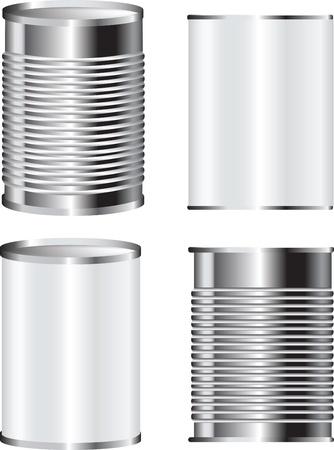 afbeelding van een blikje eten kan voor verpakkingen met blanco etiket