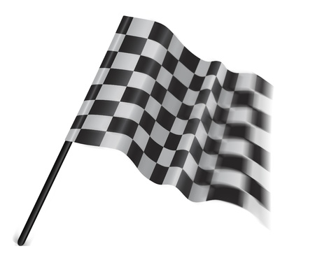 checker flag: motor sport flag isolated on a white background