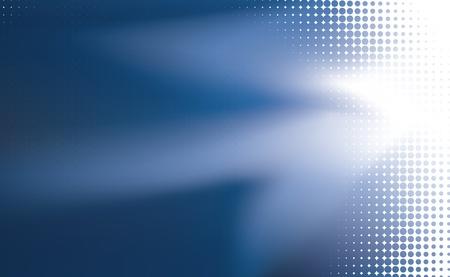 effet: illustr�e sur fond bleu avec un flou en utilisant filet de d�grad�