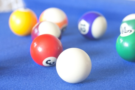 playing a game of pool macro shot close up Stock Photo - 11849992
