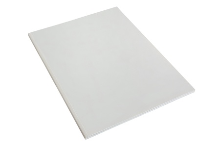brochure or magazine blank white paper dummy isolated on a white background photo