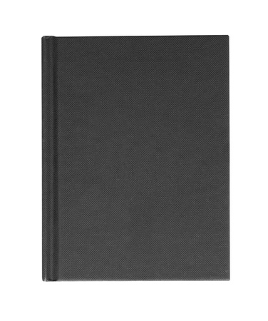 black hardback casebound book isolated on a white background Banco de Imagens