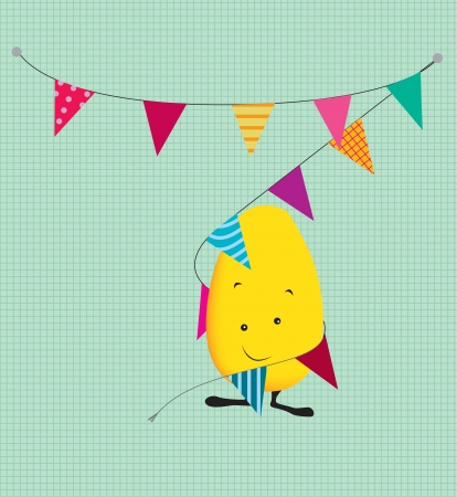 happy birthday or celebration greetings card illustration Stock Illustration - 21396716