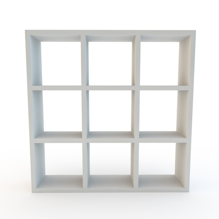 square shape: modern home or office storage unit