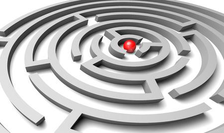 analog�a: objetivo, la met�fora de negocios para succedding en un reto
