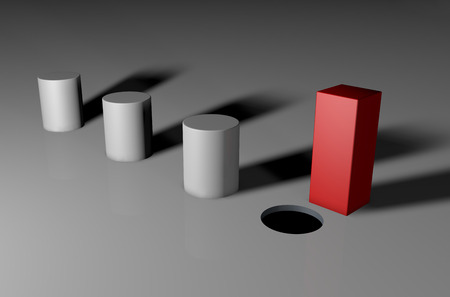 kare: Bir kare eşsiz peg görsel 3d Stok Fotoğraf