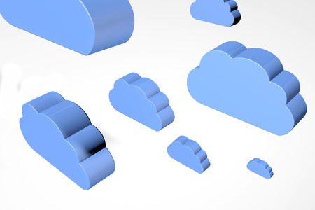 lots of 3d rendered illustrations of clouds