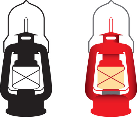 alight: silhouette and colour vector illustration of light
