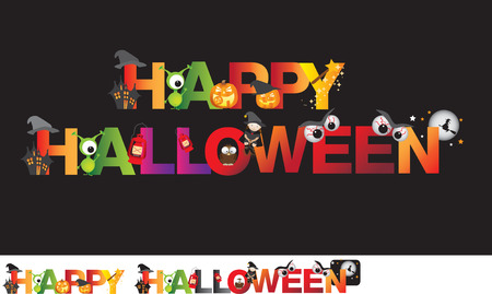the words in english read happy halloween Stock Vector - 26709341
