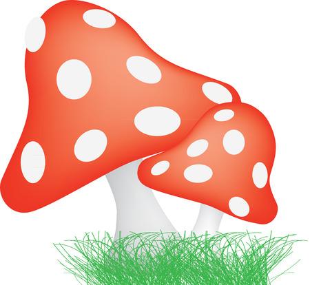 sgabelli: illustrazione di tipici sgabelli rospo stile fungo rosso