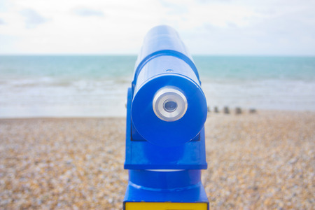 viewfinder: seaside in uk blue viewfinder
