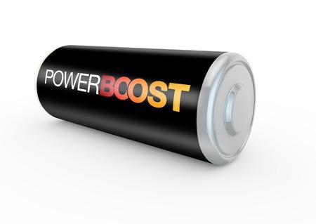 boosting: 3d render concept of boosting energy levels