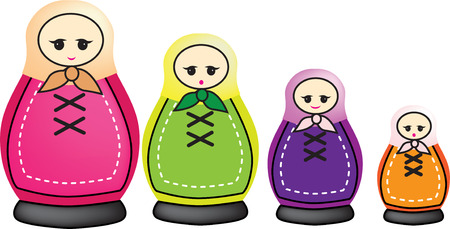 smaller: illustration of smaller and smaller russian dolls