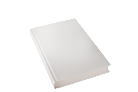 hardback: hardback book closed on white