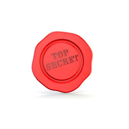 wax seal, symbol or icon representing confidential or top secret works photo