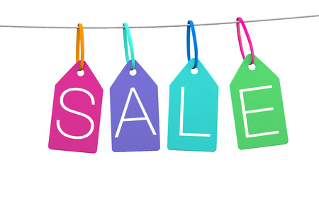 sale icons: Sale graphic in a modern style for print or web banner ads Stock Photo