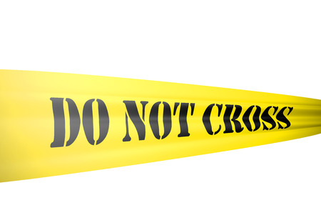 crime scene:  cut out on white background