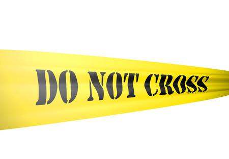 crime scene: recorta sobre fondo blanco Foto de archivo