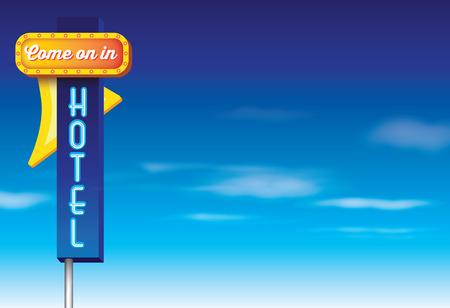 blue signage: 1950s style of advertising isolated