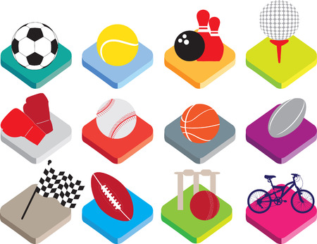 biking glove: colour buttons for soccer, tennis, bowling, golf, boxing, baseball, basketball, rugby, motor racing, american football, cricket, cycling.