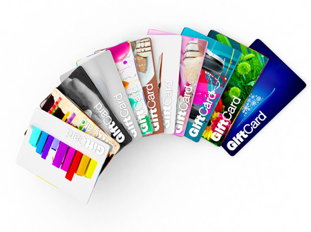 gift card gifts aimed at mums, dads, children, teenagers etc! Banque d'images