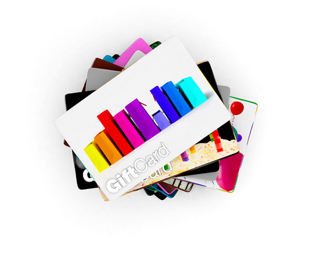gift bags: Pile of different designs for a wide range of gift acrds,