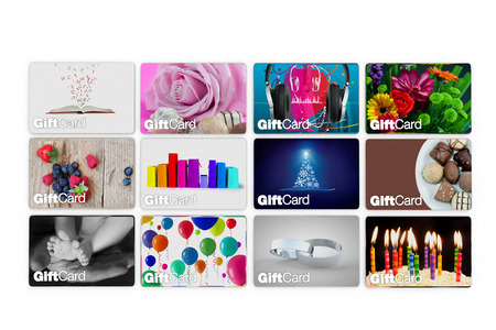 set of gift card designs for all types of celebration photo