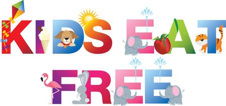 geïsoleerde Kinder alfabet cartoon woord op een witte achtergrond Stockfoto