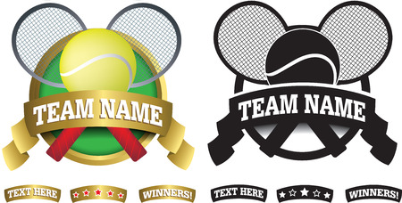 real tennis: sports badge or icon isolated on a white background