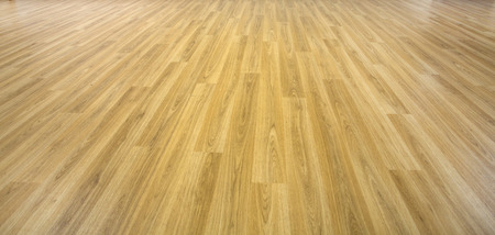timber floor: solid planks of oak timber on a empty wood floor