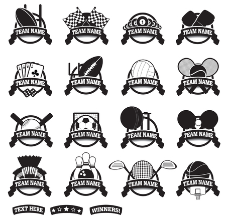 raquet: black and white vector clip art for graphic design sports elements