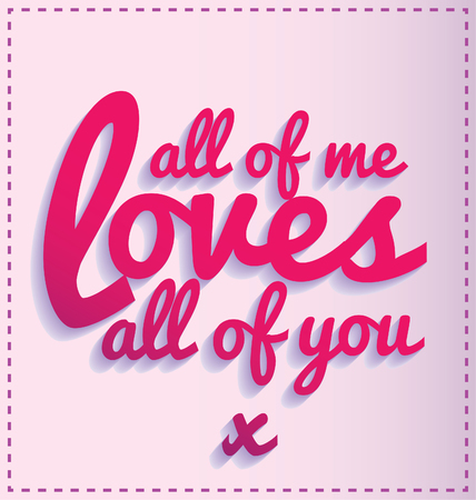 love quote ina swirly font