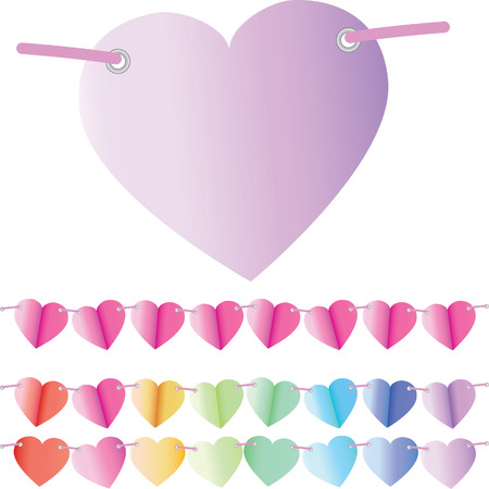 Space for message on heart shaped backgrounds