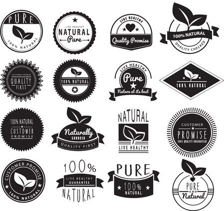 stamp collection: vector retro illustration on a white of a set of Illustration