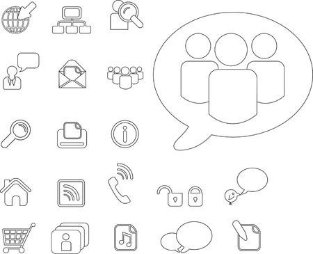 chat room: web or simplified graphic symbols