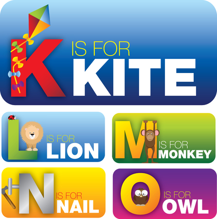 cards with the english alphabet aimed at pre school or pre k students or childern