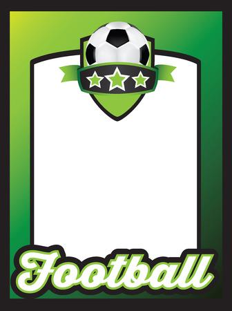 futbol infantil: Ilustración vectorial plantilla usando un tema deportivo con el espacio para el mensaje