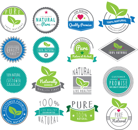 natural color: Collection of logo designs Illustration