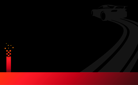 Vector illustration of a car sliding or drifting on a black background,