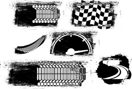 Vector illustration of a motorsports elements