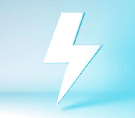 3d illustration render concepts of lightning symbol background Banco de Imagens
