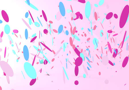 3d render of confetti falling on a pink background Stock fotó