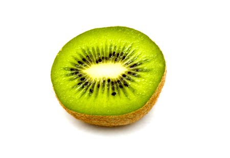 washer: Kiwi fruit isolated over white