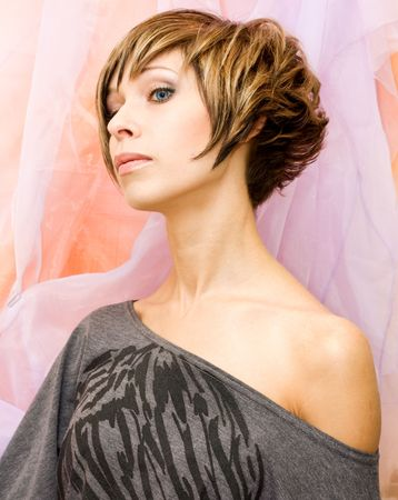 Glamourous model with nice hairstyle Stock Photo - 6617850